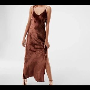 New express velvet maxi dress